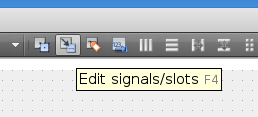 The edit signals/slots working mode.